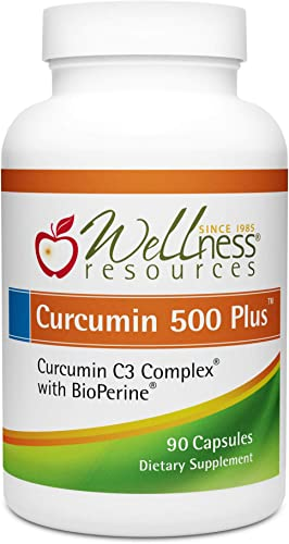 Curcumin 500 Plus – Highest Potency 95 Curcuminoids, Curcumin C3 Complex with BioPerine for Max Absorption 500mg, 90 Capsules