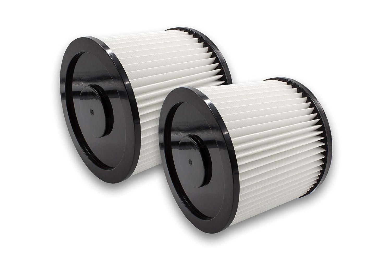 vhbw 2x filtro rotondo per aspirapolvere Aqua Vac 1000, 2000 Plera, 3000 Plus, 6160 F, 6160 P dustri, 6200 F, 6200 P Bulldog