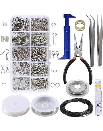 ac890889ad51 ManYee Jewelry Making Kit Pulseras Collares Accesorios de joyería  Herramientas de juego Materiales Juegos de alambre