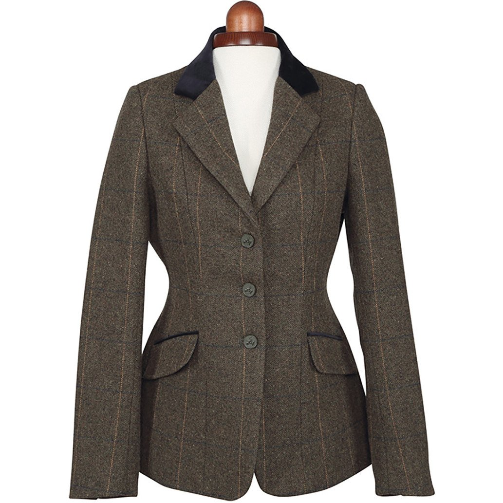 Shires Aubrion Saratoga Womens Riding Jacket - Green Check Shires - MJ Ainge and Co Ltd