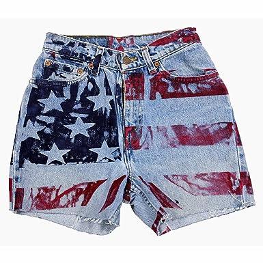 Women s Fashion American Flag Shorts (5 MED) at Amazon Women s ... f2ef2540fe