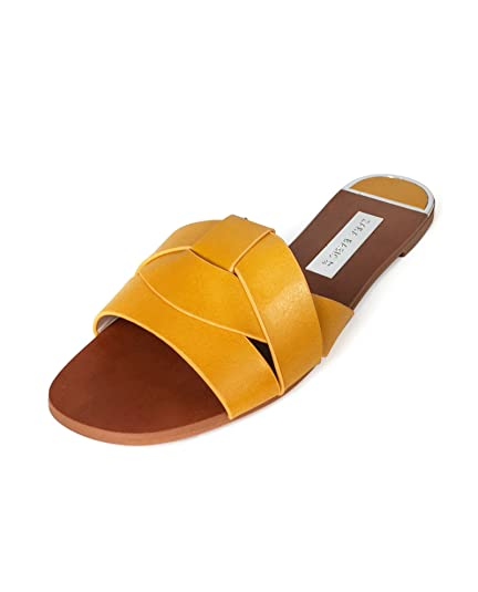 31fc8a2f015b Zara Women s Leather Crossover Sandals 2650 301 Yellow  Amazon.co.uk ...