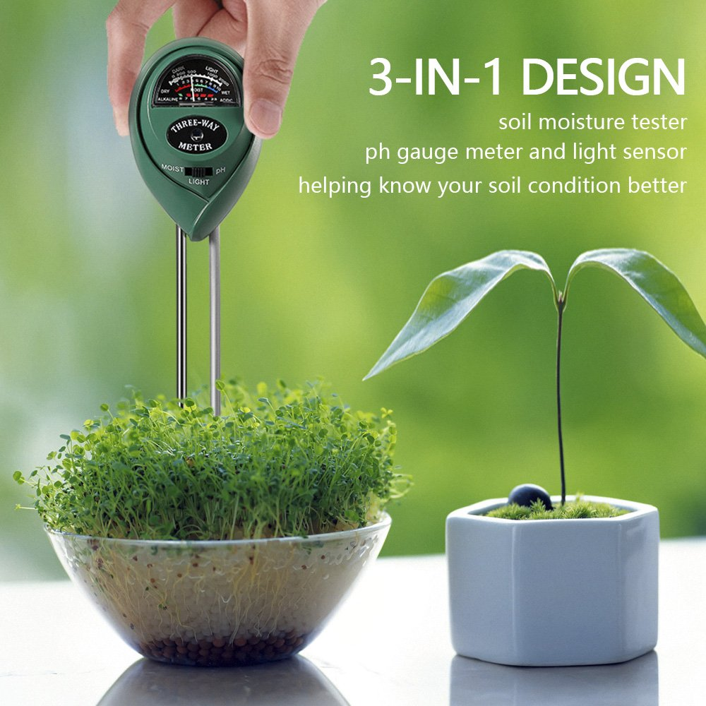 3 in 1 Soil Tester for PH, Light & Moisture, Plant Test Kit for Home and Garden, Farm, Lawn, Indoor & Outdoor, Easy Read Indicator (No Battery Needed) by FARINIDO (Image #6)