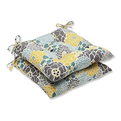 Amazon.com: Conjunto de 2 Amarillo, Azul y Gris Flor Grande ...