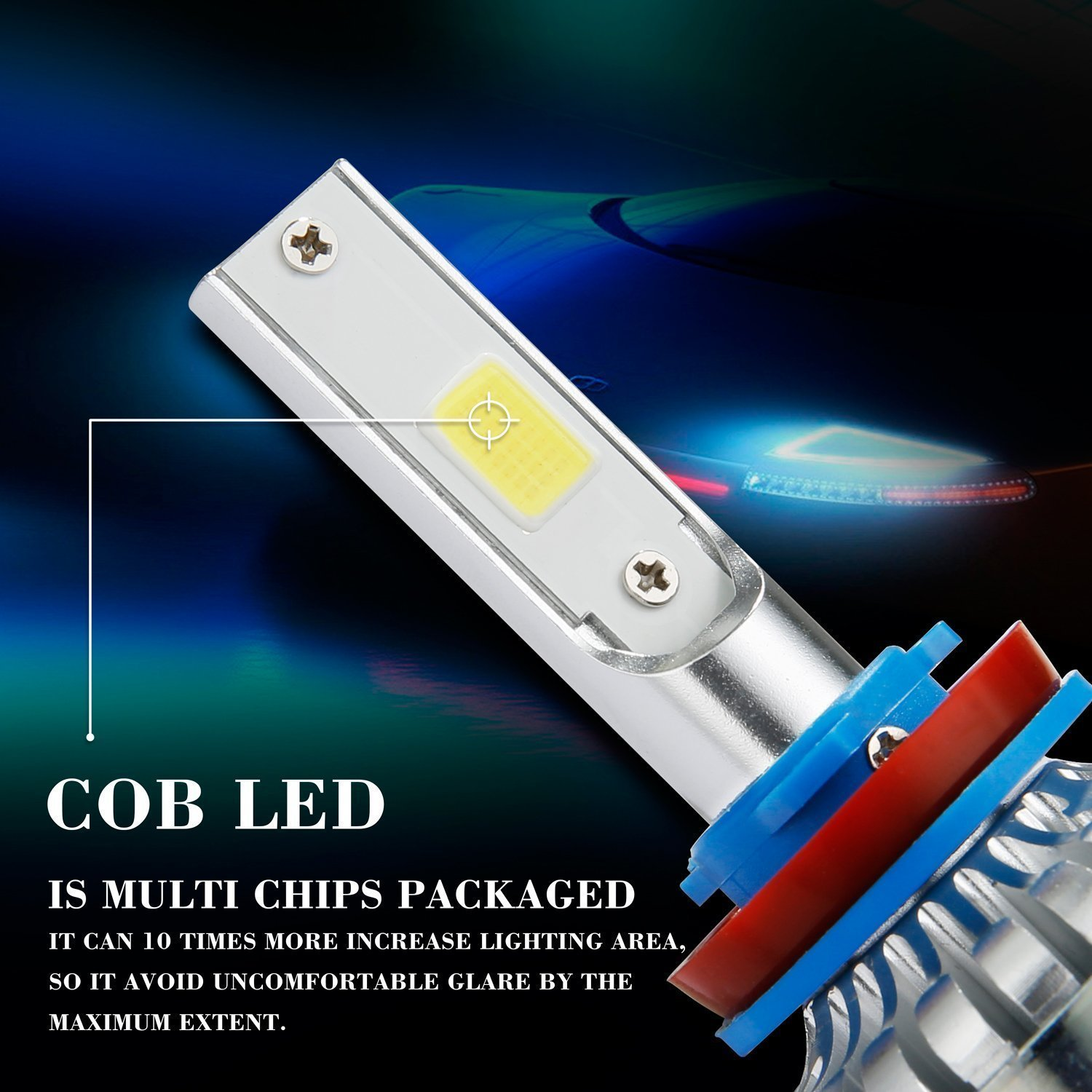 Amazon.com: H1/H3/H4/H7/H11/9005/9006/9012/880/881 LED Headlight Bulbs,Ann Bully A1 60W 7200LM 6000K IP68 Cool White Low Beam LED Conversion Kit with COB ...