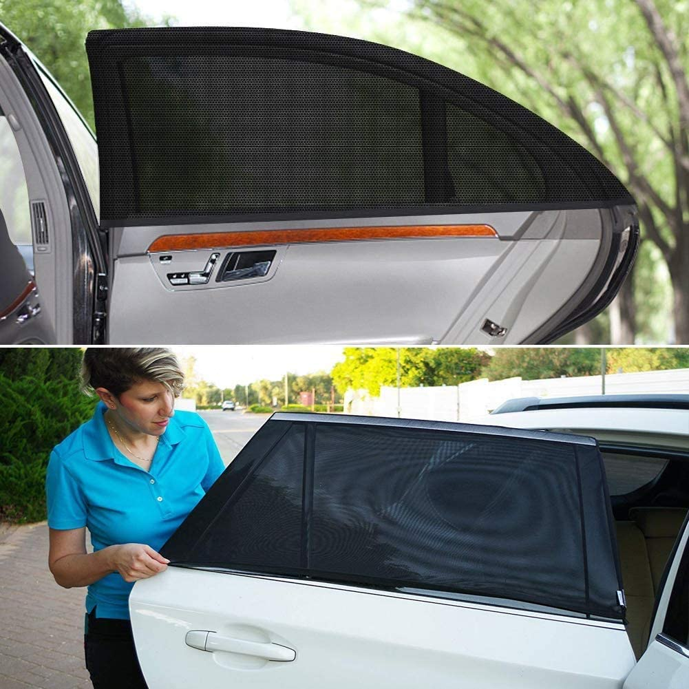 Protect Your Babies Seilent Car sunshade,AN Car Rear Side Window Portable Accessories-Car Window Shades for Baby Block UV Rays 2 Pack Easy and Flexible to Use Kids and Pet from UV 45 x 21