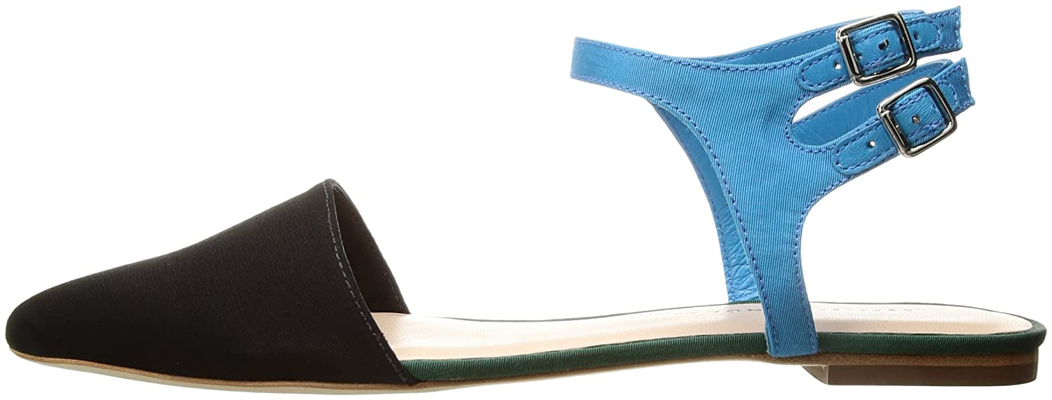 Loeffler Randall Women's Tess Pointed Toe Flat B01NAL7F35 7 B(M) US|Black/Multi