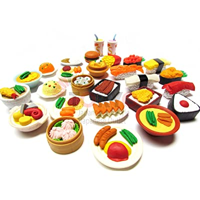 20 of Assorted IWAKO Japanese Puzzle Eraser - Restaurant Food Collection (20 will be randomly selected from images): Toys & Games
