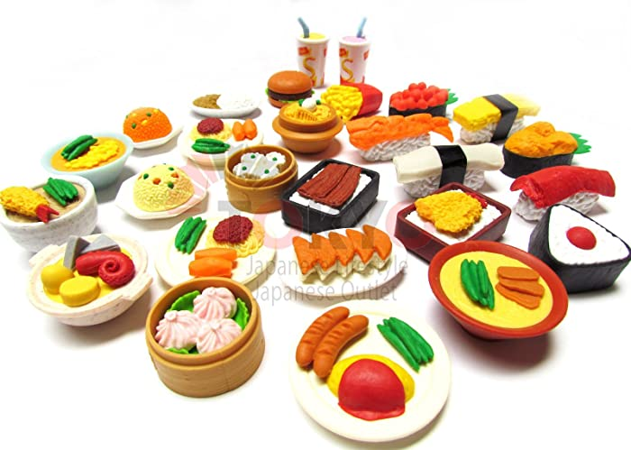 Top 9 Erasers Shaped Food