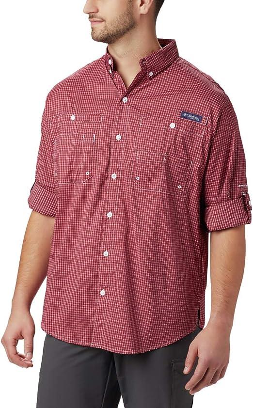 Black Gingham Columbia Mens PFG Super Tamiami Long Sleeve Shirt UPF 40 Sun Protection X-Small