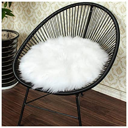 Merveilleux Junovo Premium Soft Round Faux Fur Sheepskin Seat Cushion Chair Cover Plush  Area Rugs For Bedroom