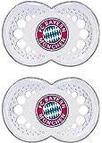 "MAM 66682700 – Schnuller, Bundesliga, Football ""FC Bayern München"" 6-16 Monate, Silikon, Doppelpack"