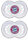 "MAM 68117200 – Schnuller, Bundesliga, Football ""FC Bayern München"" 16+ Monate, Silikon, Doppelpack"