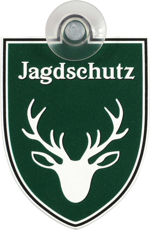 Schild Autoschild Jagdschutz Mit Saugnapf 1 1mm Wetterfestes Material 75 X 100 Mm Groß Von Innen Oder Außen Baumarkt