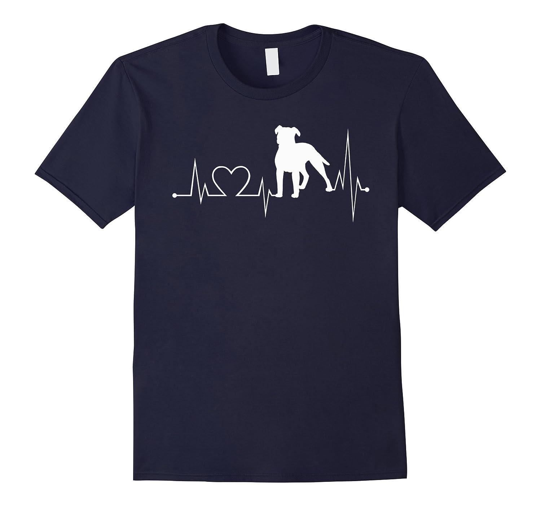 American-PitBull heartbeat shirt-American-PitBull lovers tee