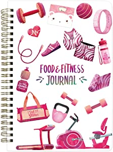 Food and Fitness Journal Diary Workout Wellness Log Notebook Planner Weight Loss Diet Meal Exercise TrainingHealth Tracker 6.1