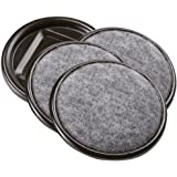 Waxman 4291295N Carpet Based Round Caster Cup, Gray, 2-1/2-Inch