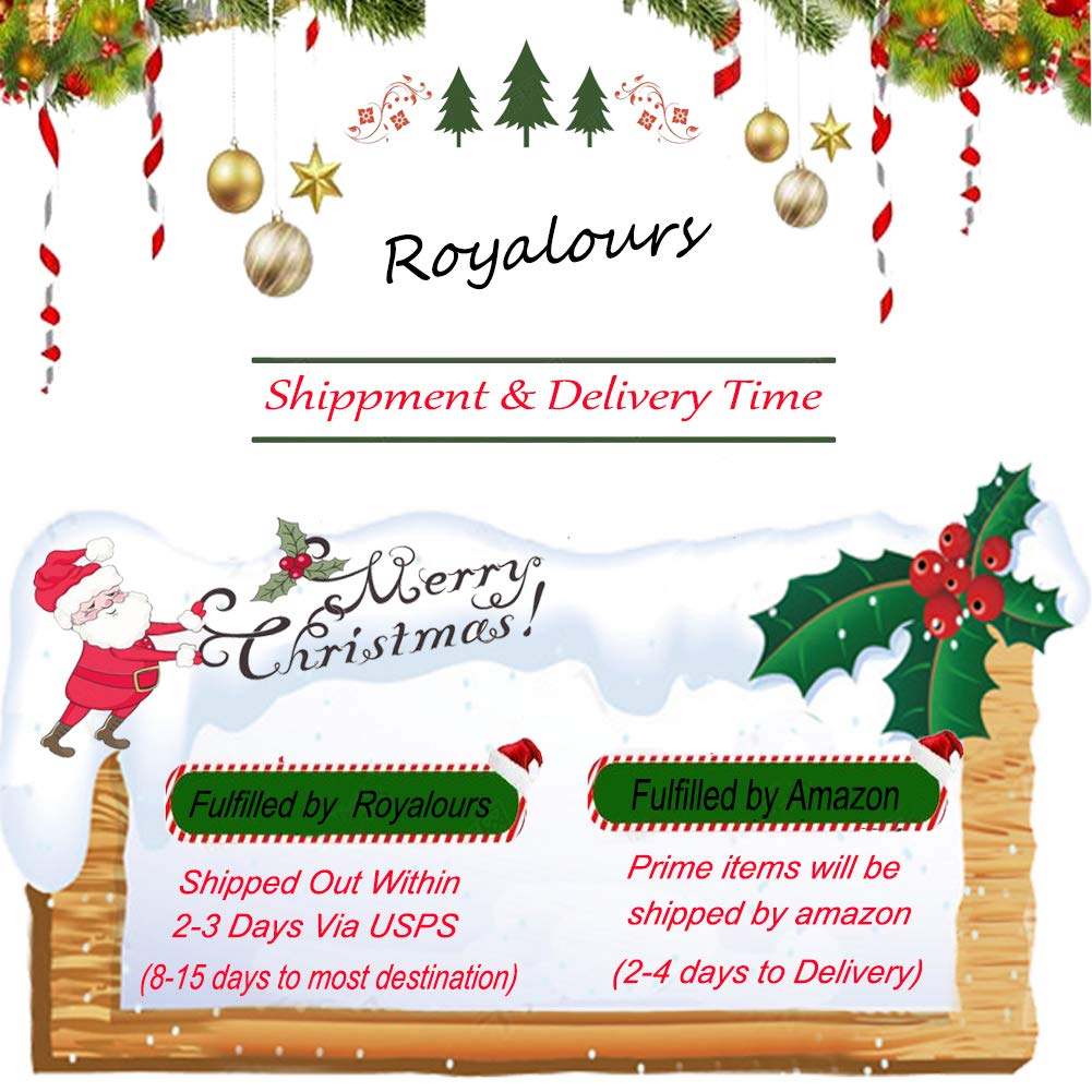 Amazon.com: Royalours Merry Christmas Pillow Covers Cotton Linen ...