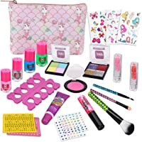 Kids Makeup Kit for Girls - Real Kids Cosmetics Make Up Set with Cute Unicorn Cosmetic Bag, Nail Polish/Eyeshadow/Lip…