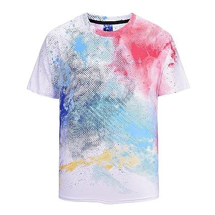 DYEWD Camiseta Camisetas para Hombres, 2018 Camisetas Nuevas, Camisetas Sueltas, Camisetas Estampadas en