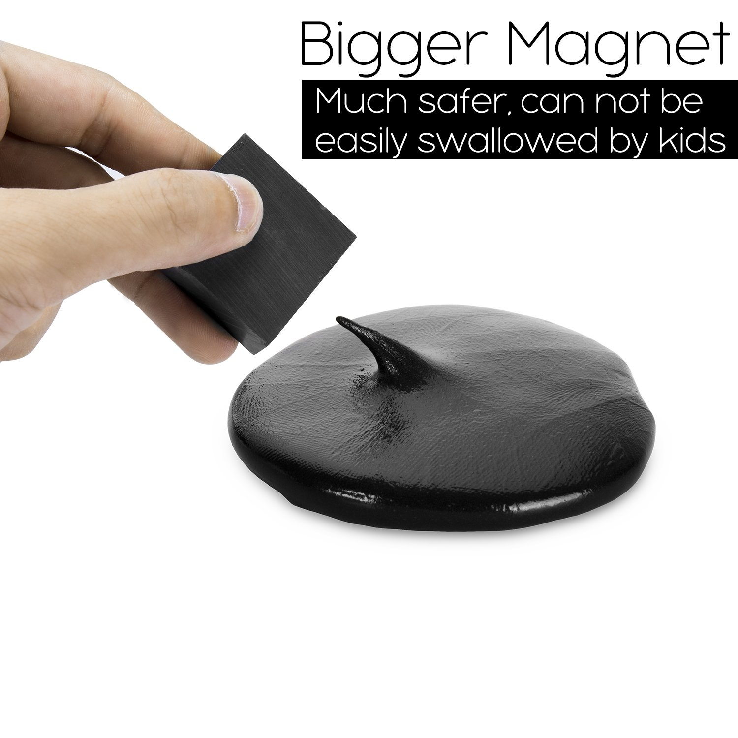 ILC Magnetic Putty Playdough Creative Magnet Toy Slime Stress Reliever for Kids and Adults for Fun (4 Pack) by ILC (Image #2)