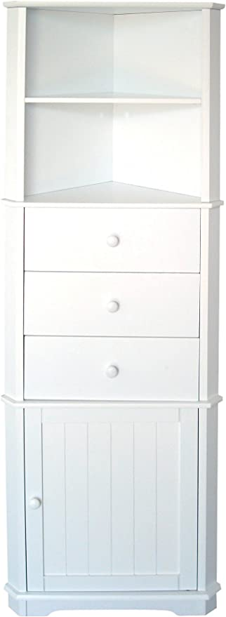 Premier Housewares Mobile Ad Angolo 161 X 32 X 55 Cm Colore Bianco Amazon It Casa E Cucina