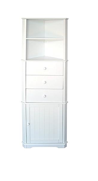 Premier Housewares Mobile Ad Angolo 161 X 32 X 55 Cm Colore Bianco