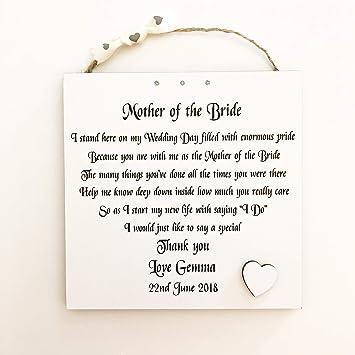 Missyjulia Ltd Mother Of The Bride Gift Personalised Wedding Poem