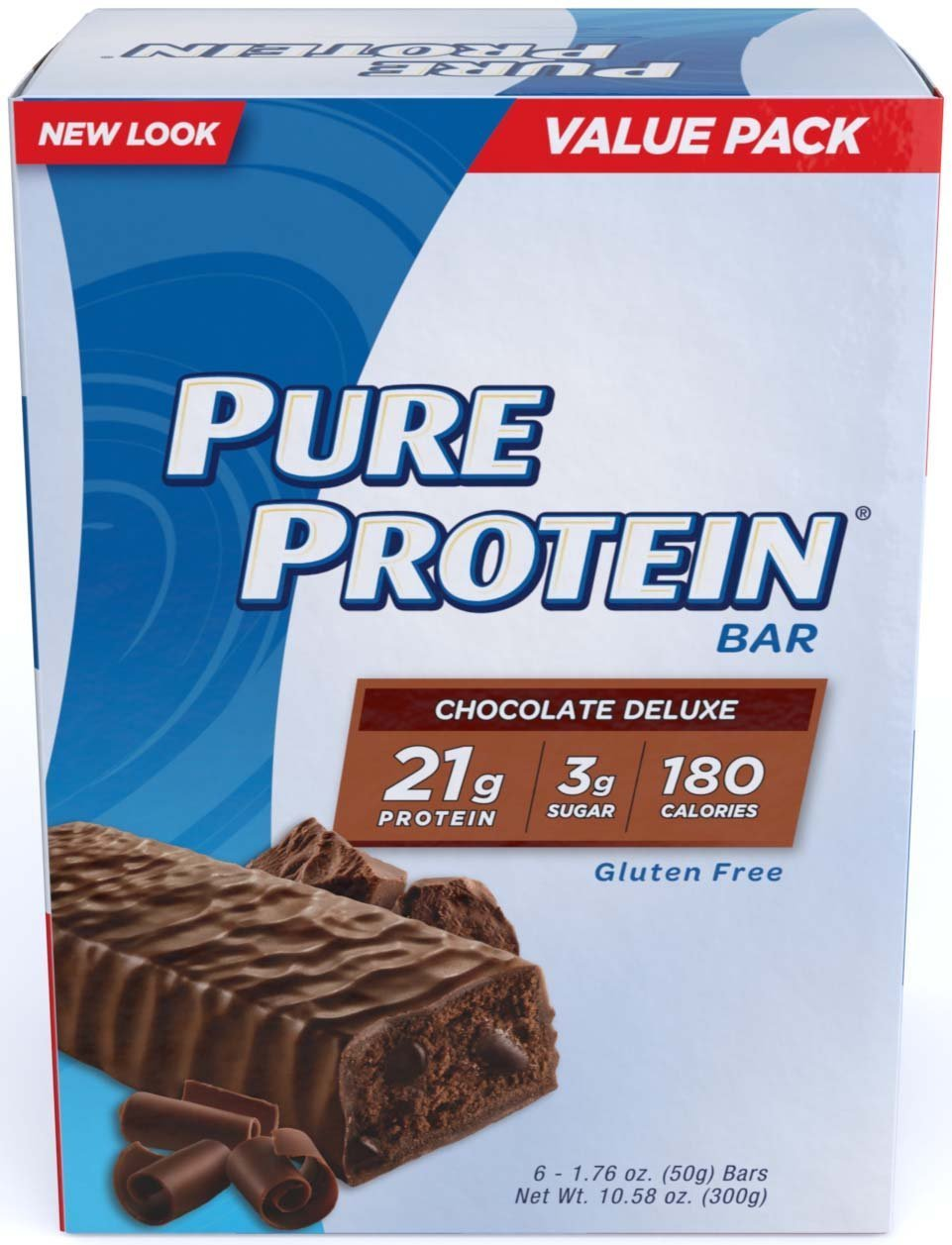 Pure Protein Chocolate Deluxe High Protein Bar, New Mega Size Package 60 Count by Pure Protein (Image #1)
