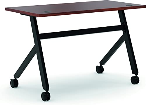 HON Asseble Fixed Base Multi-Purpose Table, 48-Inch, Chestnut Black HBMPT4824X