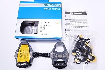 NEW Shimano PD-R550 SPD-SL Road Bike Pedals Clipless w//SM-SH11 cleats Retail box
