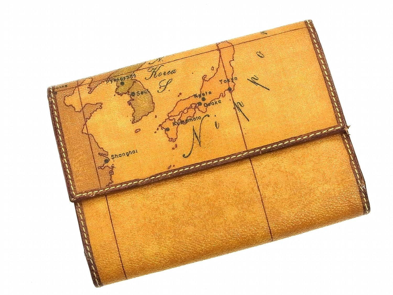 [プリマクラッセ] PRIMA CLASSE 二つ折り財布 地図柄 レザー X10333 中古 B01BV38U6A