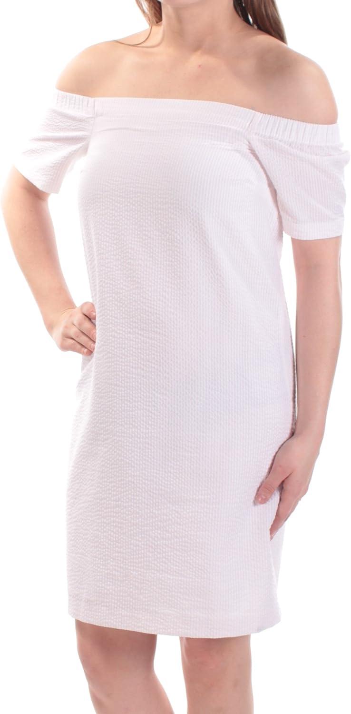 Amazon Com Maison Jules Womens Seersucker Textured Casual Dress
