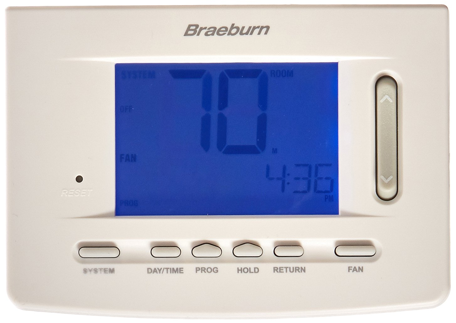 BRAEBURN 5020 Thermostat, Universal 7, 5-2 Day or Non-Programmable, 1H/1C