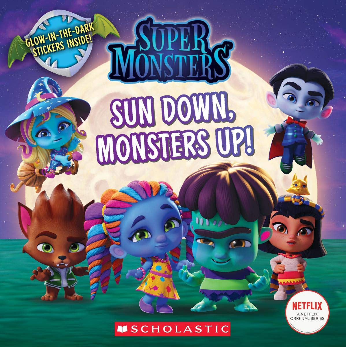Sun Down Monsters Up Super Monsters 8x8 Storybook Scholastic Rusu Meredith 9781338354935 Amazon Com Books
