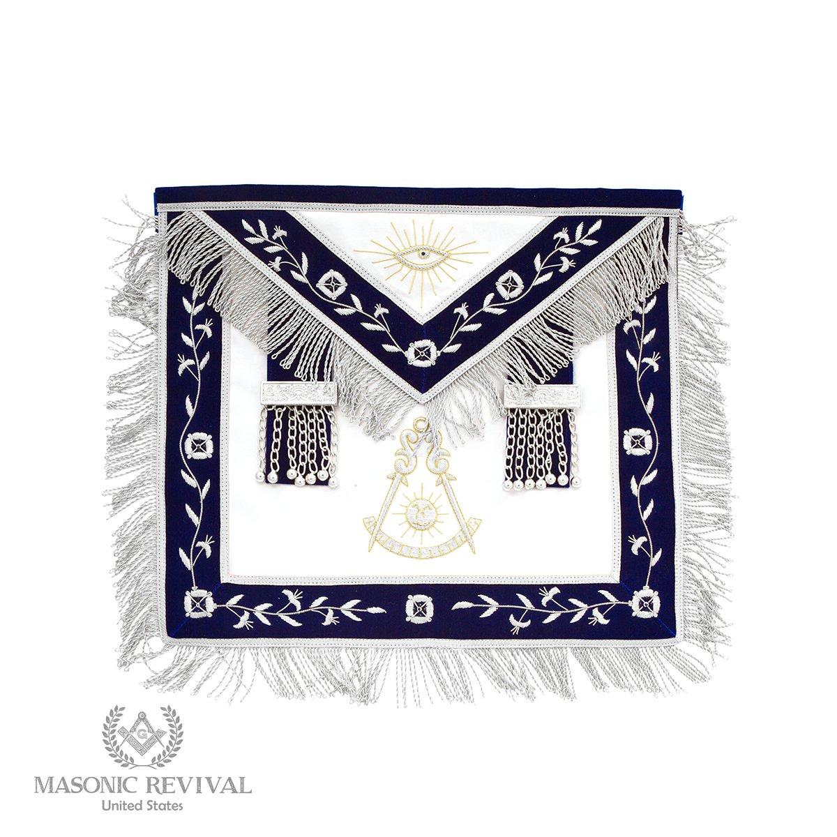 Masonic Revival El Mixto Bullion パストマスターエプロン   B07KY6T48W