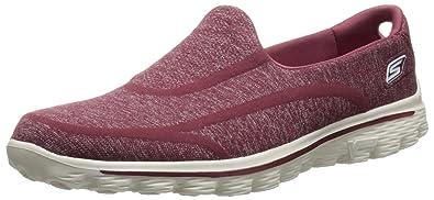 Womens Skechers Go Walk 2 Super Sock Pink Trainers