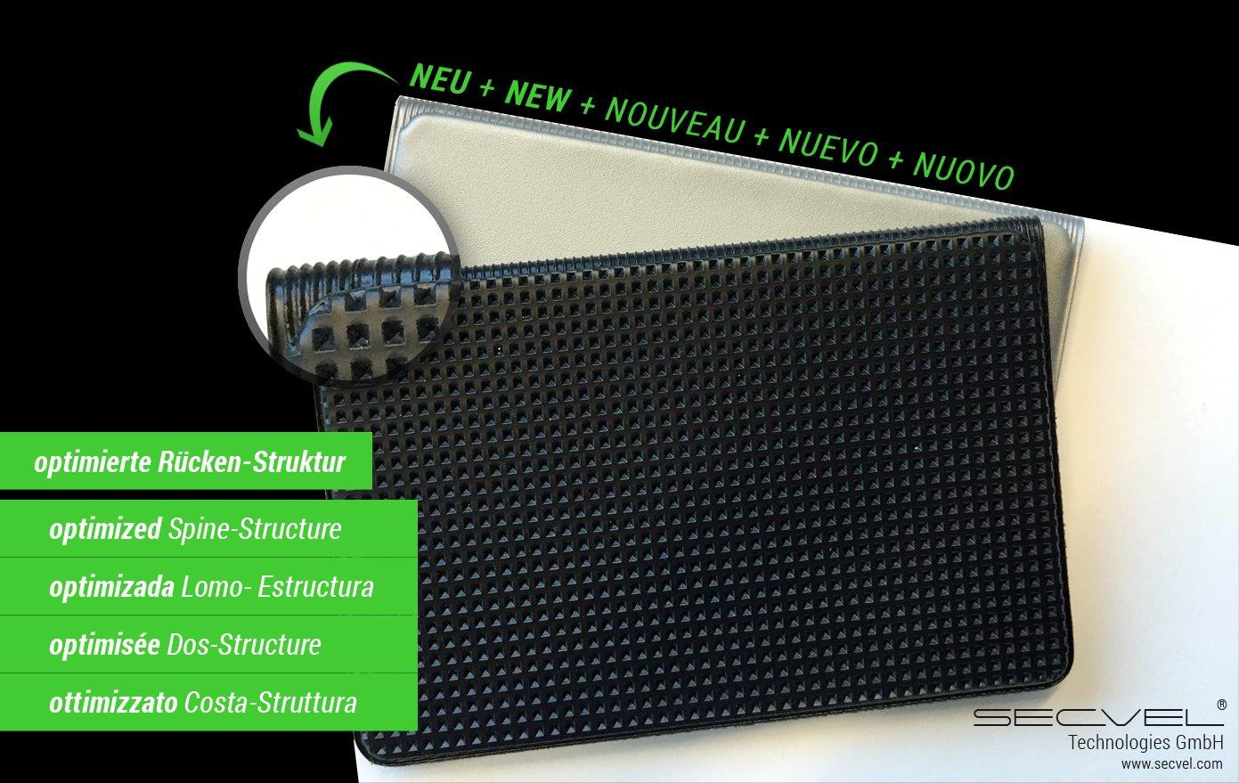 Quattro Silver LeNOUVEAU et AME/´LIORE/´ Porte-cartes premium edition protection RFID//NFC et champs magn/étiques SECVEL