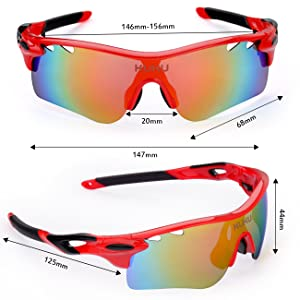 FiveBox Polarized U.V Protection Sports Glasses - Frame Design