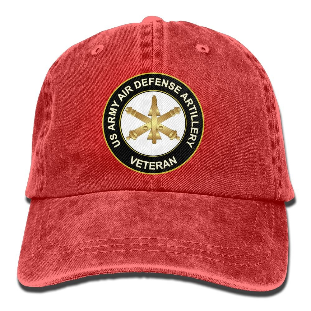 KERLANDER US Army Veteran Air Defense Artillery Adjustable Washed Twill Baseball Cap Dad Hat