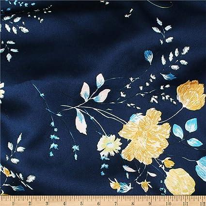 "Navy Per Yard Crepe Back Satin Dress Apparel Fabric 58/"" Wide Japanese"
