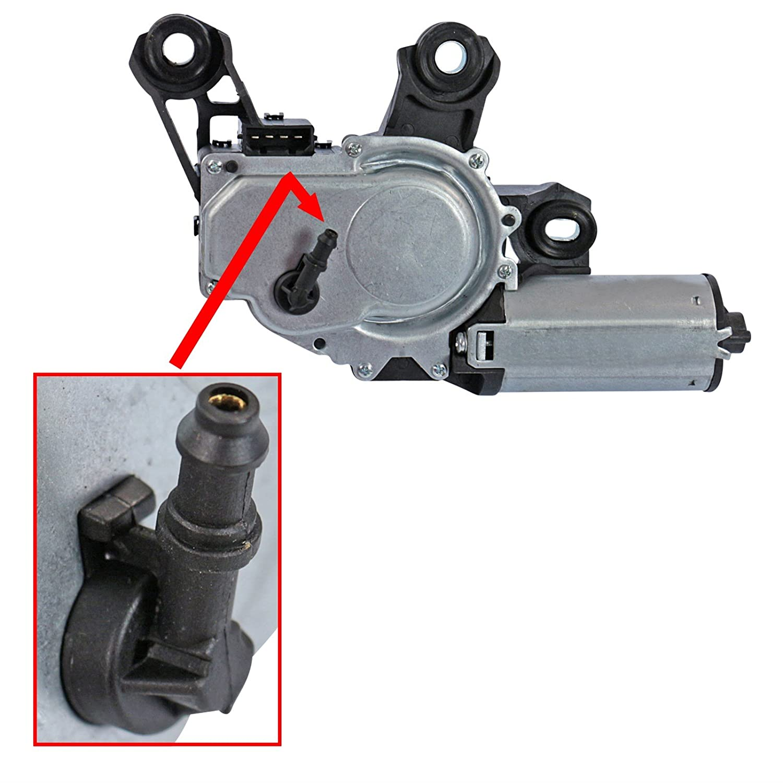 1x Motor limpiaparabrisas trasero Incluye boquillas pulverizadoras 1M 1.4 1.6 1.8 1.9 2.8 99-06, FABIA 6Y LIMOUSINE 1.0 1.2 1.4 1.9 2.0 99-08, ...