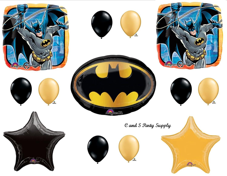Amazoncom Batman Emblem Birthday Party Mylar Balloon Decorations