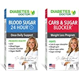 Diabetes Doctor A1C Double Pack - 24 Hour Daily Support & Mealtime Carb & Sugar Defense - Insulin & Weight Loss Support - 1 M