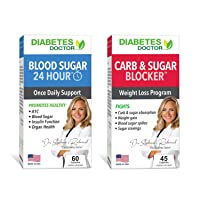 Diabetes Doctor A1C Double Pack - 24 Hour Daily Support & Mealtime Carb & Sugar Defense - Insulin & Weight Loss Support - 1 Month Supply
