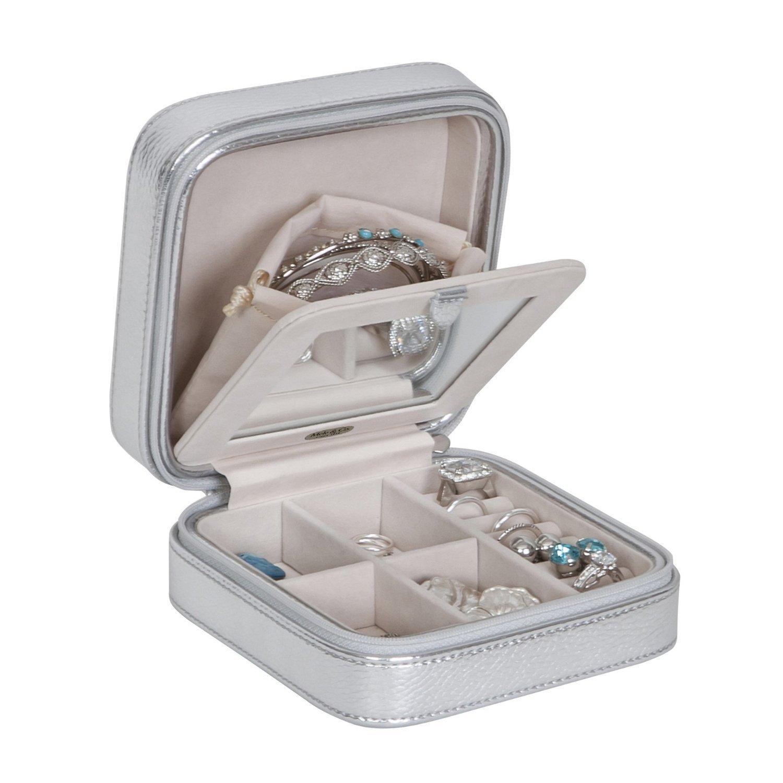 Mele & Co. Luna Travel Jewelry Box (Silver)
