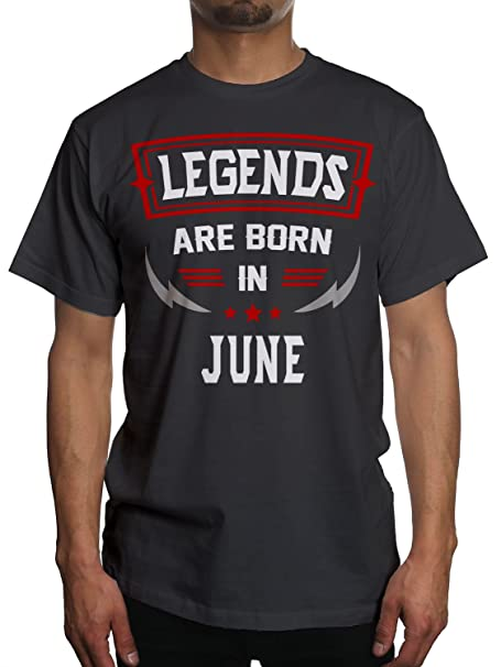 b4358203 Amazon.com: Young Motto Men's Legends Born in June Stars T-Shirt: Clothing