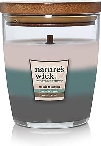 Nature's Wick Medium Jar Trio Candle, Horizon Glow