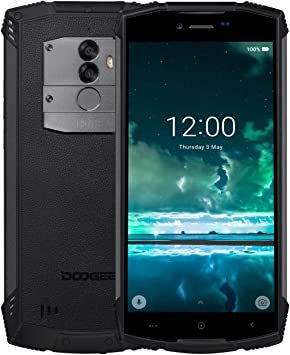 DOOGEE S55 Movil Antigolpes Todoterreno, IP68 Impermeable Octa Core 4GB + 64GB, 4G Smartphone Libres Android 8.0, 5500mAh 13.0MP+8.0M Cámara, 5,5 Pulgada HD+, GPS Impronta Digitale, Negro: Amazon.es: Electrónica