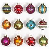Inge-glas Mille Fiori 66058-K - Palline natalizie decorate, scatola da 12, 6 cm